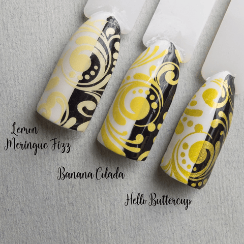 Hit The Bottle stamping polish - Banana Colada (5ml)