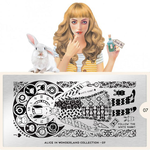 MoYou London Alice 07 stamping plate
