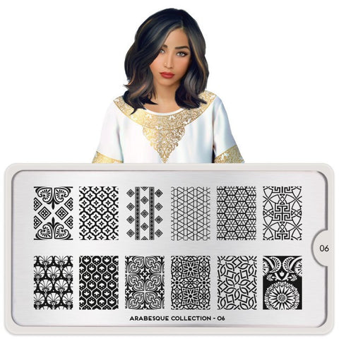 MoYou London Arabesque 06 stamping plate
