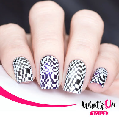Whats Up Nails - B016 Hypnotic Illusions stamping plate
