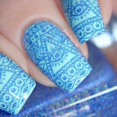 Colors by Llarowe - Stamping Polish - Blue Skies