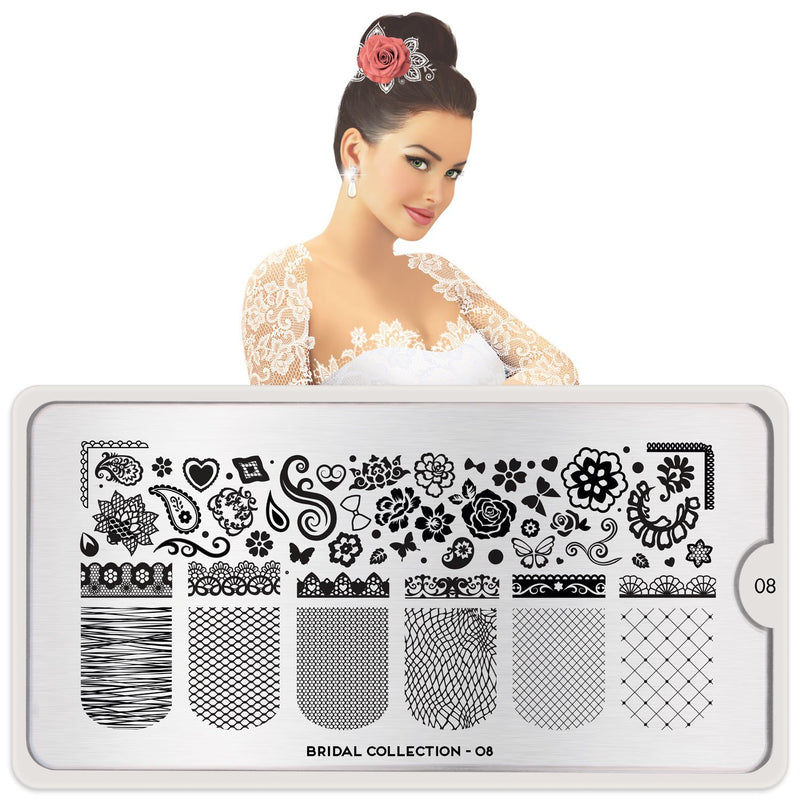 MoYou London Bridal 08 stamping plate