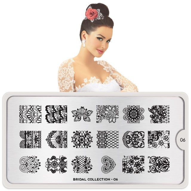 MoYou London Bridal 06 stamping plate