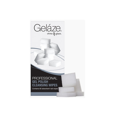 China Glaze - Professional Cleansing Wipes (60 Lint-free Nail Wipes)