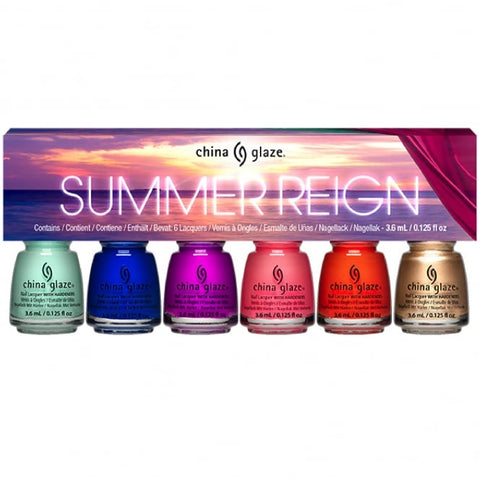 China Glaze - Summer Reign - Summer Reign Mini Set (6 x 3.6ml)