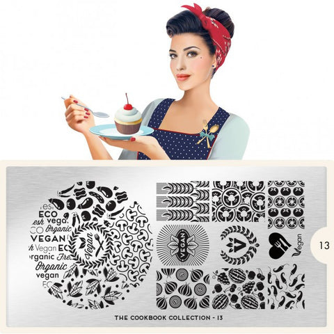 MoYou London Cook Book 13 stamping plate
