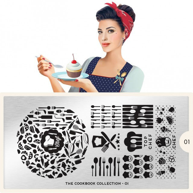 MoYou London Cook Book 01 stamping plate