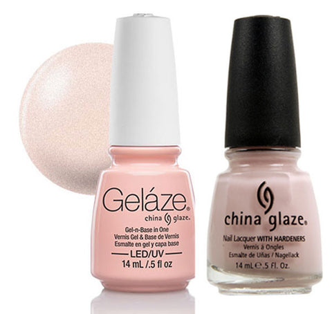 China Glaze - Lacquer & Gel 2 pcs Duo Pack - Diva Bride