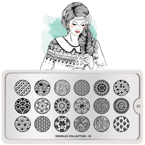 MoYou London Doodles 01 stamping plate