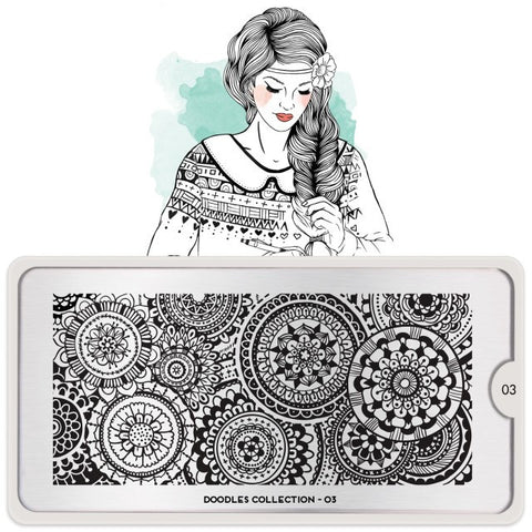 MoYou London Doodles 03 stamping plate