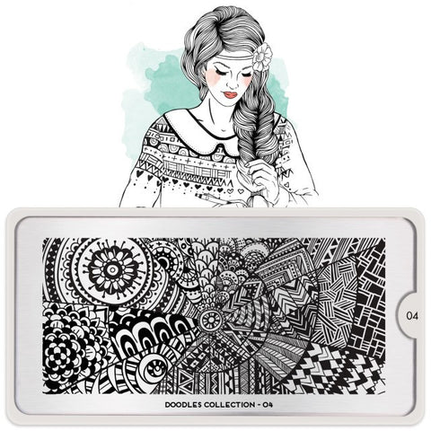 MoYou London Doodles 04 stamping plate