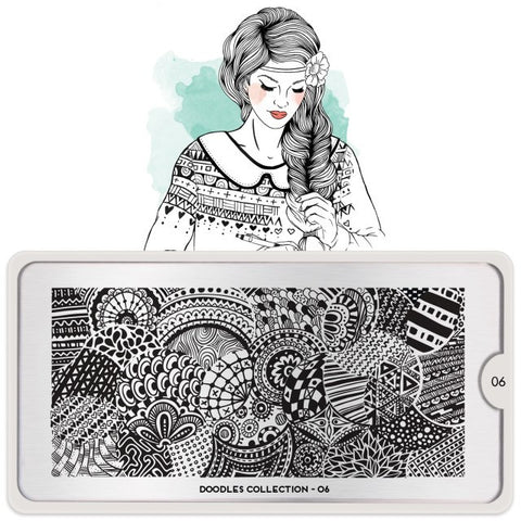 MoYou London Doodles 06 stamping plate
