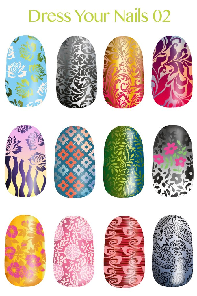 Lina - Dress Your Nails 02 stamping plate