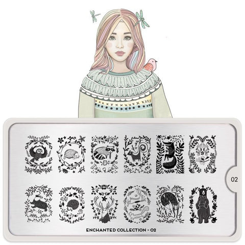 MoYou London Enchanted 02 stamping plate