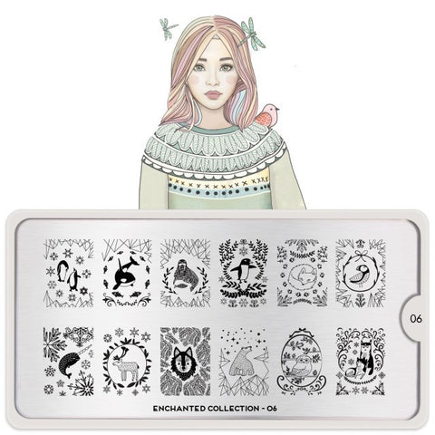 MoYou London Enchanted 06 stamping plate