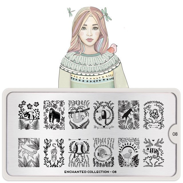 MoYou London Enchanted 08 stamping plate