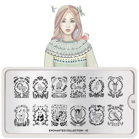 MoYou London Enchanted 10 stamping plate