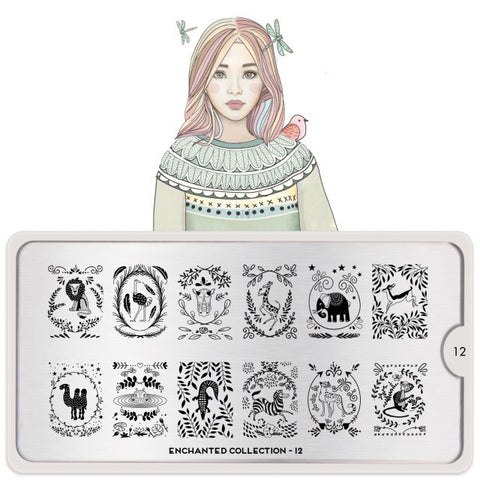 MoYou London Enchanted 12 stamping plate
