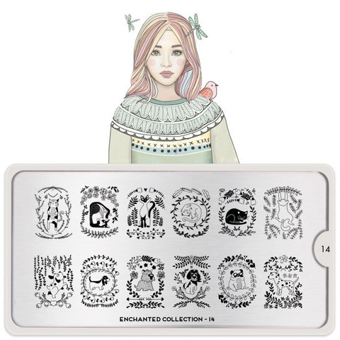 MoYou London Enchanted 14 stamping plate