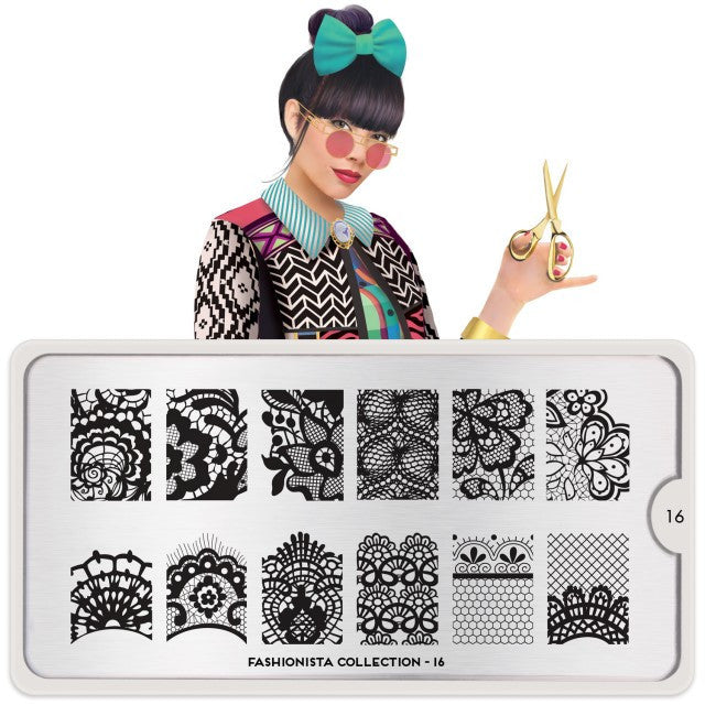 MoYou London Fashionista 16 stamping plate