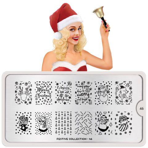 MoYou London Festive 46 stamping plate