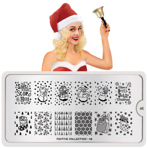 MoYou London Festive 48 stamping plate