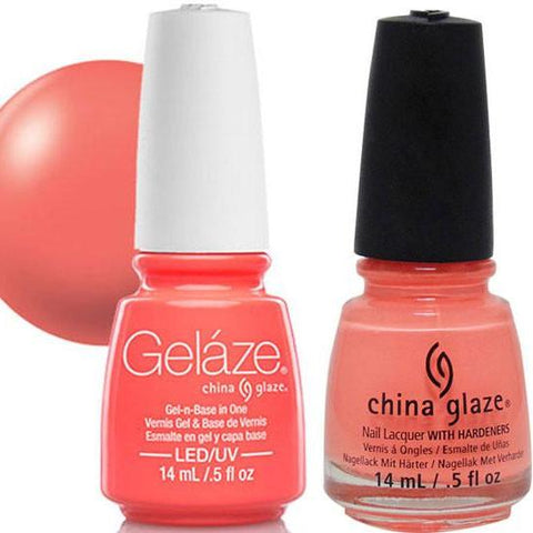China Glaze - Lacquer & Gel 2 pcs Duo Pack - Flip Flop Fantasy