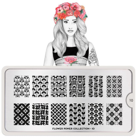 MoYou London Flower Power 10 stamping plate