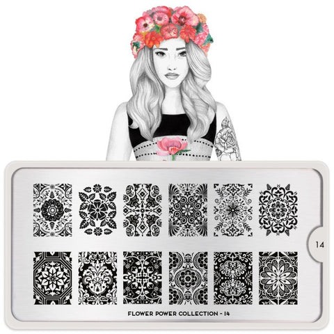 MoYou London Flower Power 14 stamping plate