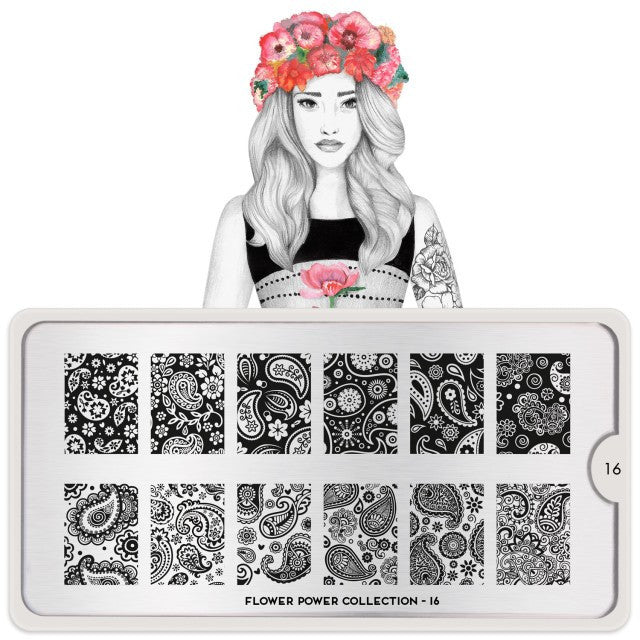 MoYou London Flower Power 16 stamping plate