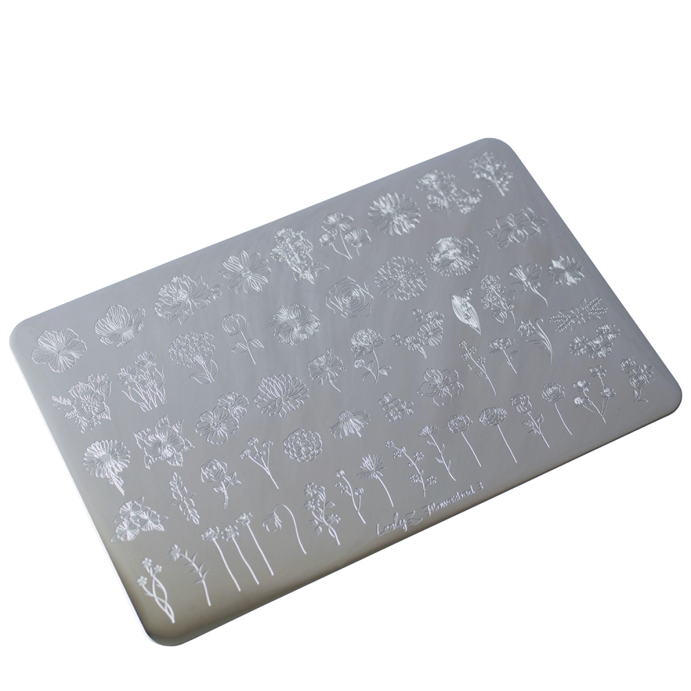 Lesly Flowerbed 3 stamping plate