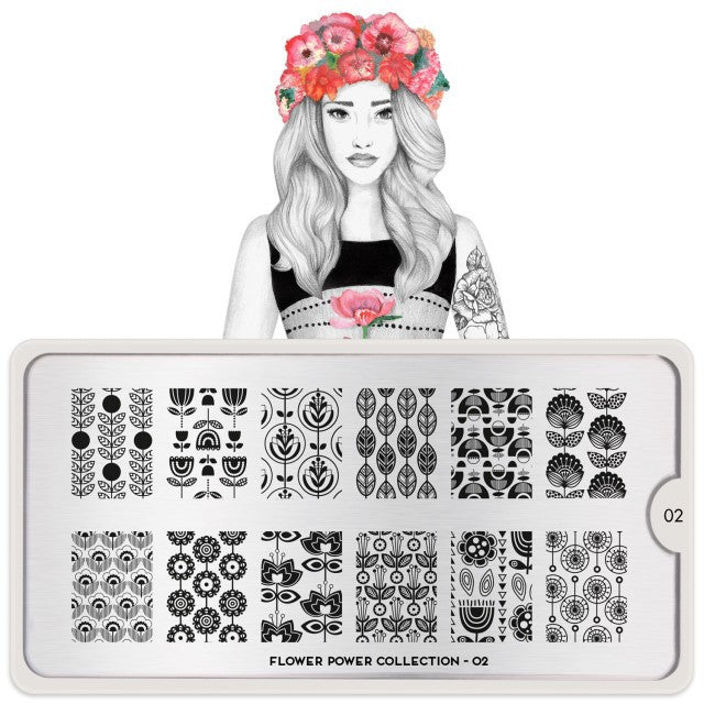 MoYou London Flower Power 02 stamping plate