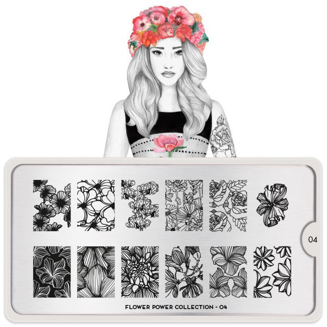 MoYou London Flower Power 04 stamping plate