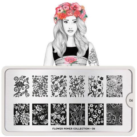 MoYou London Flower Power 06 stamping plate