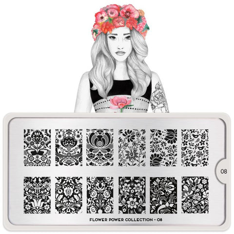 MoYou London Flower Power 08 stamping plate