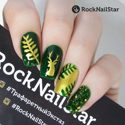 RockNailStar vinyl stencils and stickers - Forest