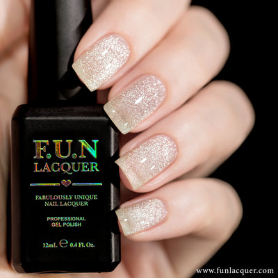 F.U.N Lacquer - Platinum Diamond Magnetic Gel Polish
