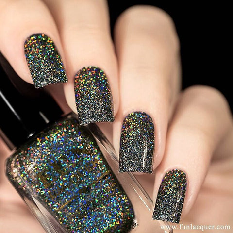 F.U.N Lacquer - Black Holo Witch