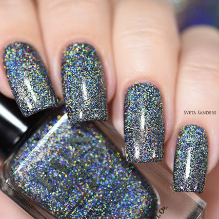 F.U.N Lacquer - Black Holo Witch (H)