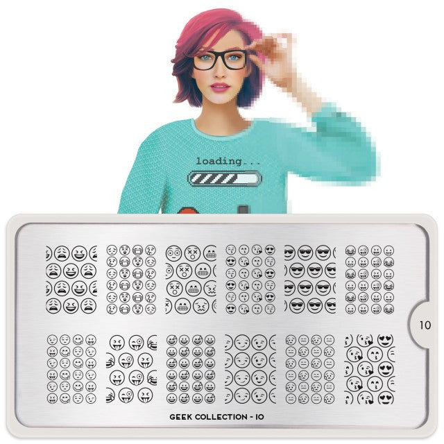MoYou London Geek 10 stamping plate