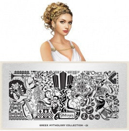 MoYou London Greek Mythology 01 stamping plate