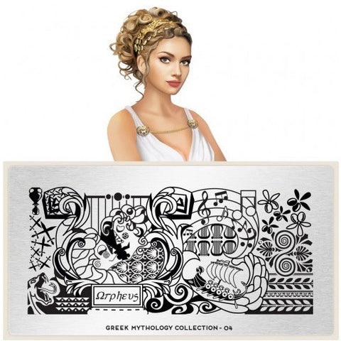 MoYou London Greek Mythology 04 stamping plate