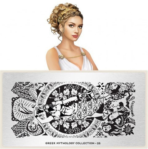 MoYou London Greek Mythology 05 stamping plate
