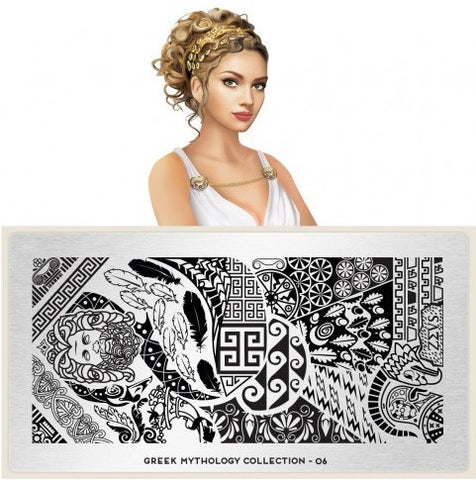 MoYou London Greek Mythology 06 stamping plate