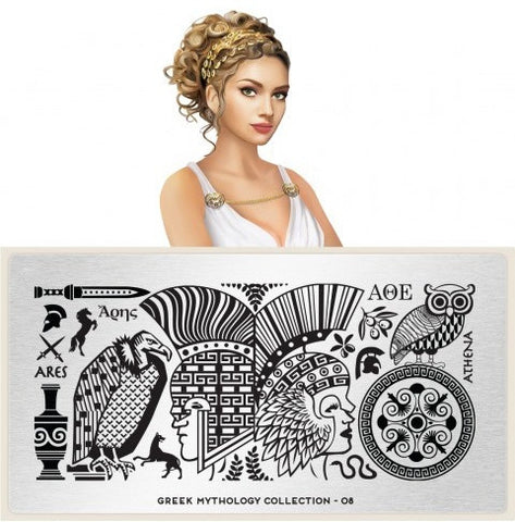 MoYou London Greek Mythology 08 stamping plate