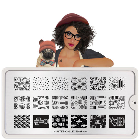 MoYou London Hipster 16 stamping plate
