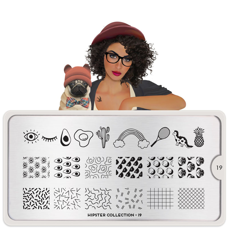 MoYou London Hipster 19 stamping plate