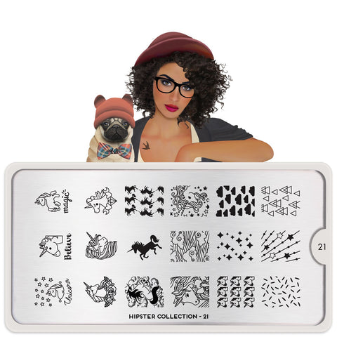 MoYou London Hipster 21 stamping plate