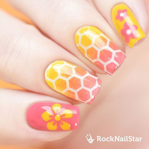 RockNailStar vinyl stencils and stickers - Honey mini