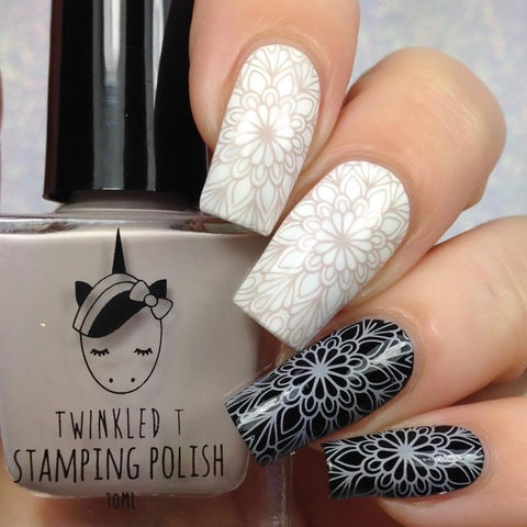 Twinkled T - stamping polish - Ghosted